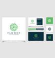 creative elegant flower with leaf element logo vector image vector image