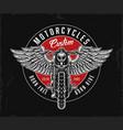 custom motorcycle vintage round logo vector image vector image