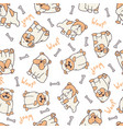 decorated bulldog pattern vector image vector image