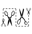 dotted line with scissors cut vector image vector image