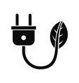 eco energy plug icon simple style vector image