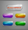 glass capsule buttons vector image