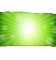 green sunburst background vector image vector image
