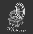 hand drawn gramophone vector image vector image