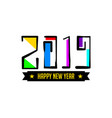 happy new year 2019 hand lettering decorative vector image vector image