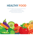 healthy and clean food concept flat design vector image vector image