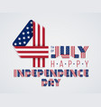 july 4 united states america independence day vector image vector image