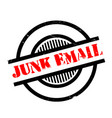 junk email rubber stamp vector image