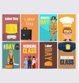 labor day bright promotion posters collection vector image