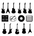 large set various music instruments isolated vector image