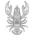 lobster coloring book vector image vector image