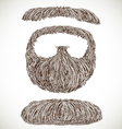 Lush retro mustache and beard vector image