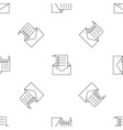 mail checklist pattern seamless vector image vector image