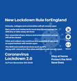 new lockdown rules for england information vector image vector image