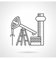 Oil extraction line icon vector image vector image