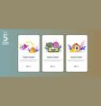 online payment concept app templete vector image vector image