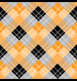 orange plaid tartan fabric pattern fabric vector image