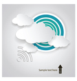 Paper cloud computing vector image