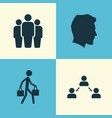 person icons set collection of network male vector image vector image