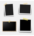 photo frame collection with transparent background vector image vector image