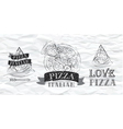 Pizza symbol Paper vector image vector image