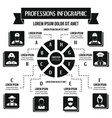 professions infographic concept simple style vector image vector image