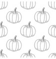pumpkin pattern contour graphic on white vector image vector image