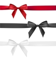 red black and white bow vector image vector image