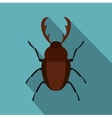 Rhinoceros beetle icon flat style vector image vector image