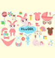 set isolated bagirl vector image vector image