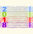 simple calendar in unusual design months in vector image
