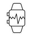 smart watch with pulse thin line icon smart watch vector image vector image