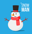 snow man winter fun activity classic vector image