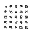 social network like solid icon set vector image vector image