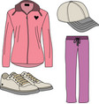 Sport suits for women vector image vector image