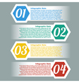 stitching infographic element design with co vector image vector image