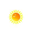 sun summer logo vector image