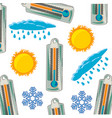 thermometer and weather pattern on white vector image vector image