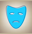 tragedy theatrical masks sky blue icon vector image vector image