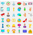 training icons set cartoon style vector image vector image
