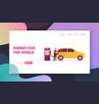 transport gasoline drivers service landing page vector image vector image