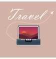 travel case open picture of landscape sky and vector image vector image