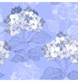 Vintage Floral Seamless Background with Hydrangeas vector image vector image