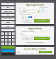 web design elements set2 vector image vector image