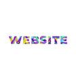 website concept retro colorful word art vector image vector image