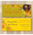 Winter snowflakes design wedding invitation card vector image vector image