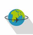 worldwide icon flat style vector image vector image