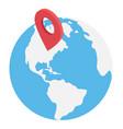 worldwide location vector image