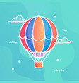 air balloon colorful in flat vector image