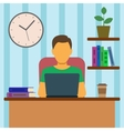 Man Working At Home vector image
